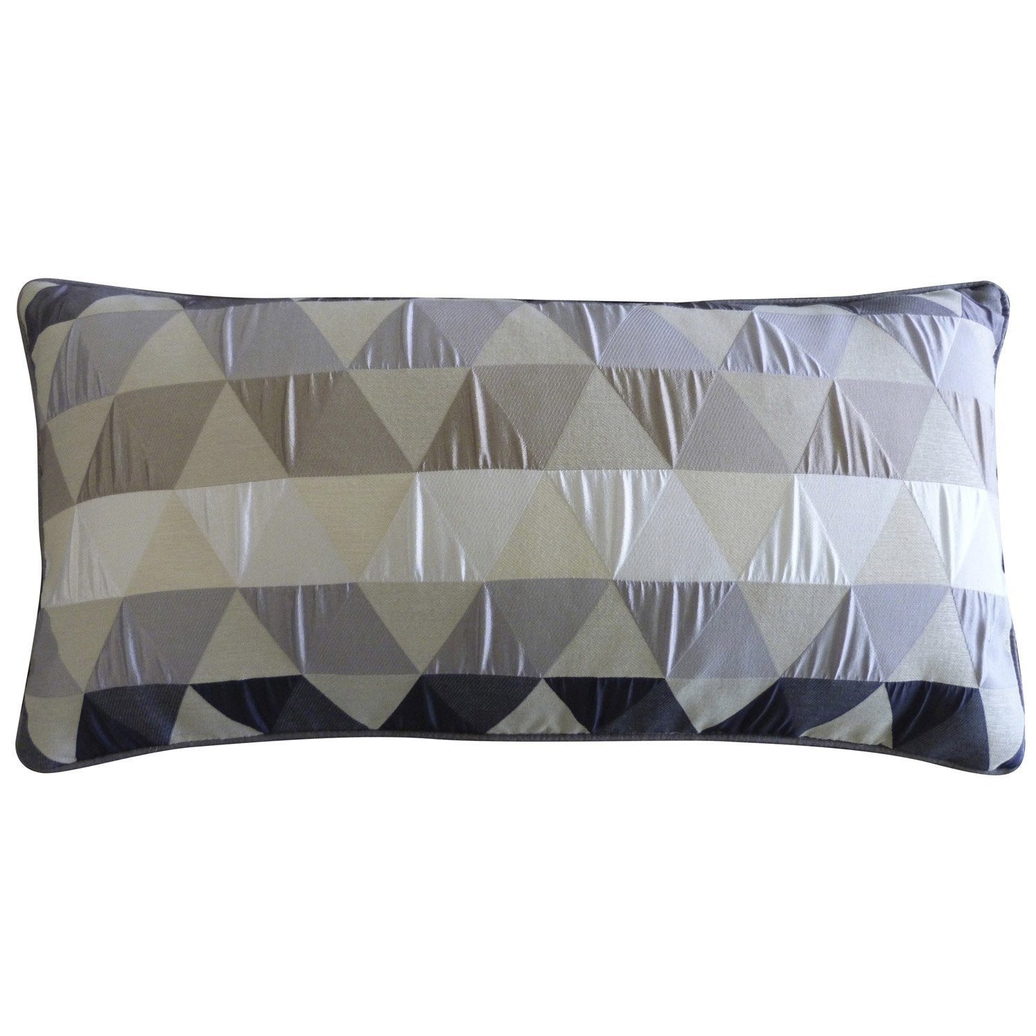 Coussin triangles gris x cm leroy merlin - Leroy merlin coussin ...