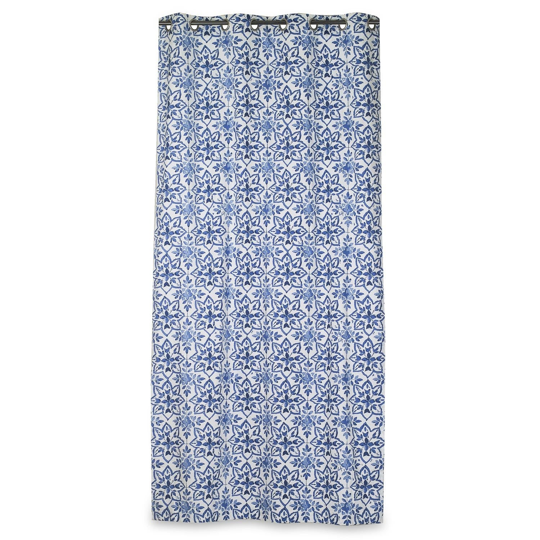 rideau avignon bleu 135 x 250 cm leroy merlin. Black Bedroom Furniture Sets. Home Design Ideas