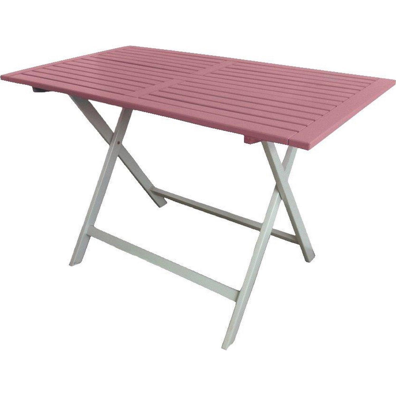 Table de jardin rectangulaire rose 4 personnes leroy merlin - Table jardin rose toulon ...