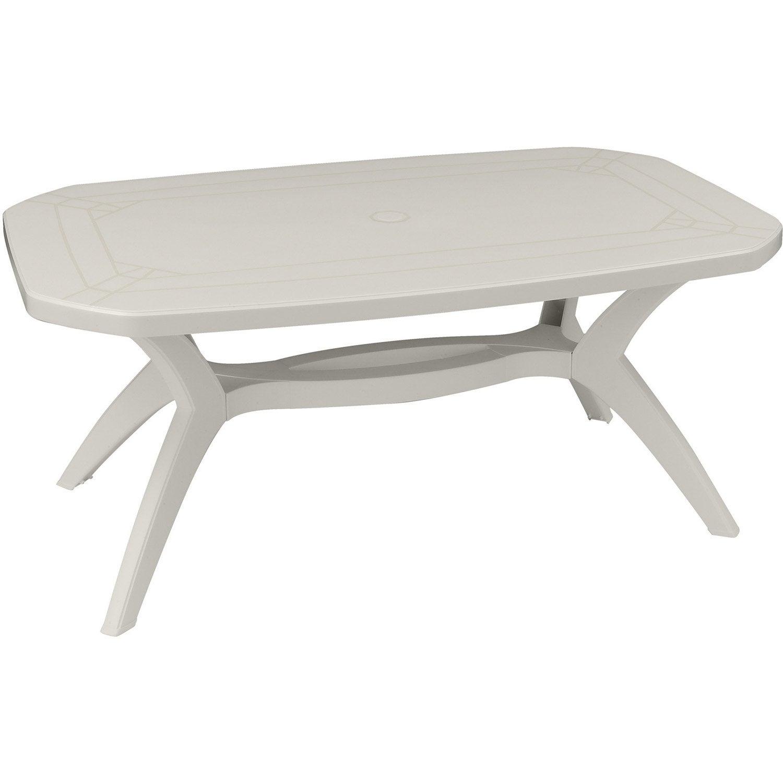 table de jardin rectangulaire ibiza grosfillex leroy merlin. Black Bedroom Furniture Sets. Home Design Ideas