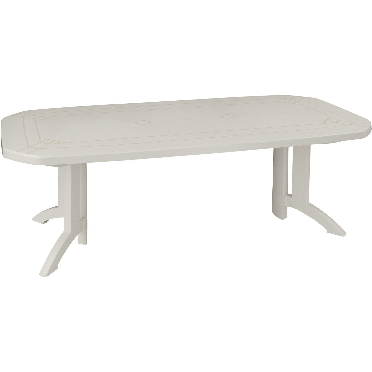 Table de jardin grosfillex v ga rectangulaire blanc 10 - Table de jardin en plastique blanc ...