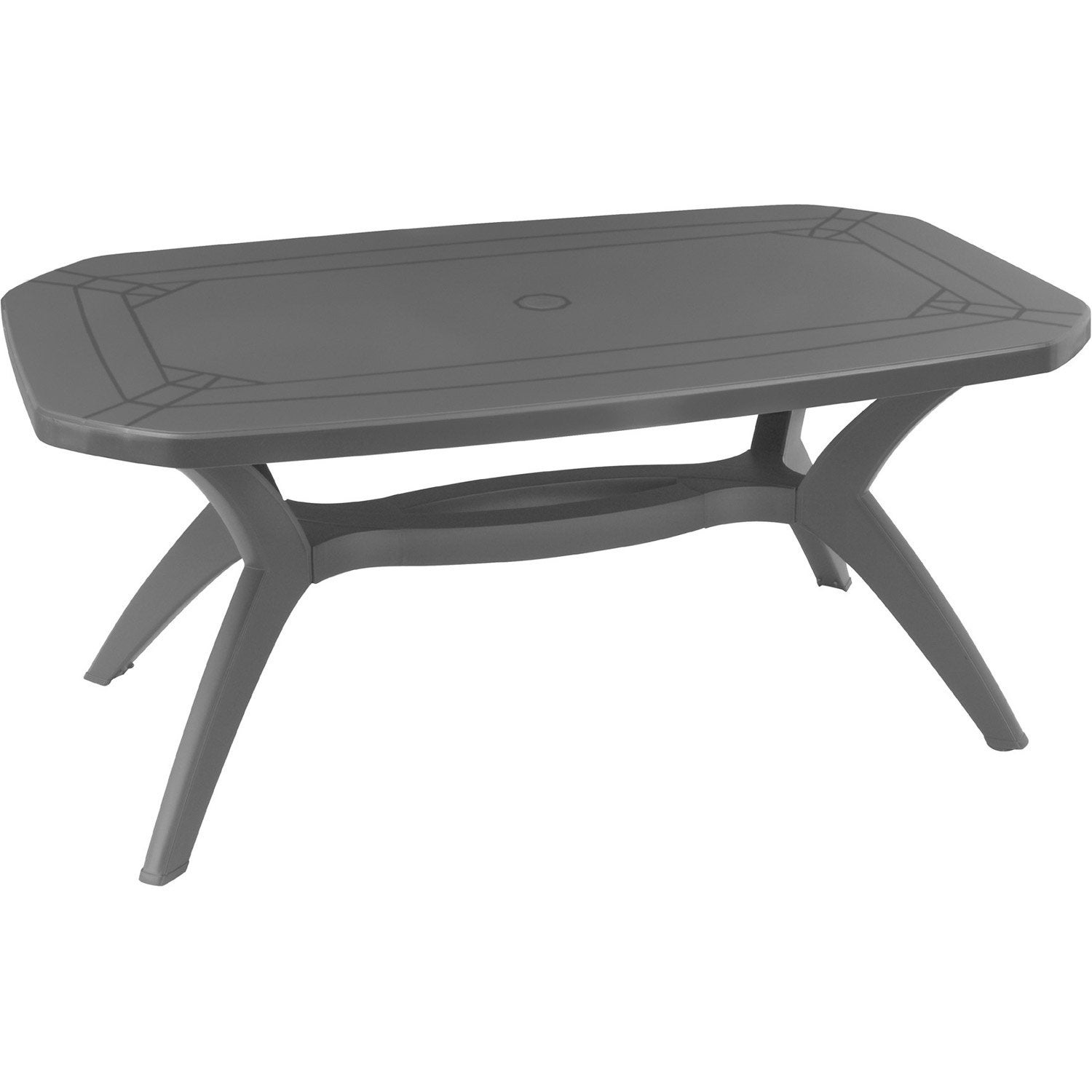 table de jardin rectangulaire ibiza grosfillex leroy merlin. Black Bedroom Furniture Sets. Home Design Ideas