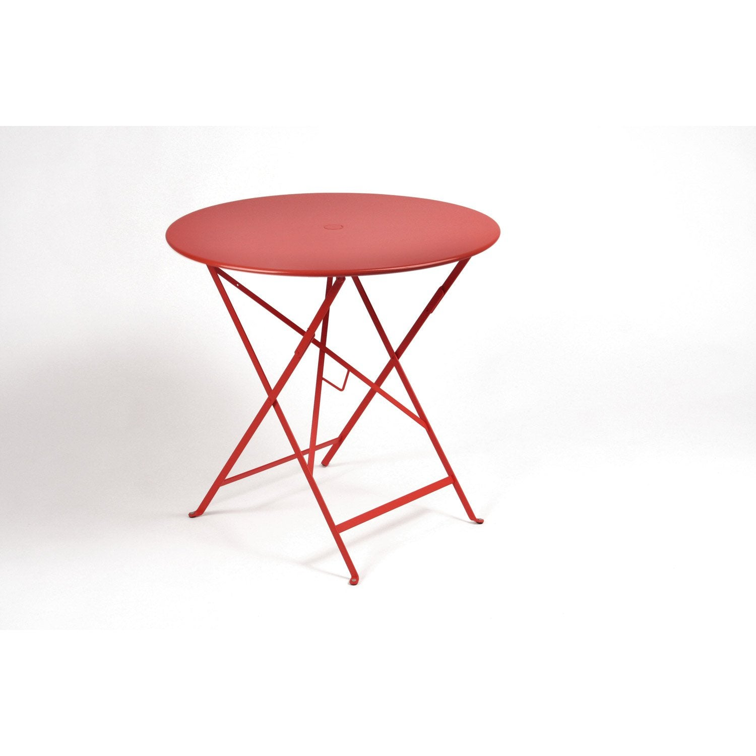 table de jardin fermob bistro ronde coquelicot leroy merlin. Black Bedroom Furniture Sets. Home Design Ideas