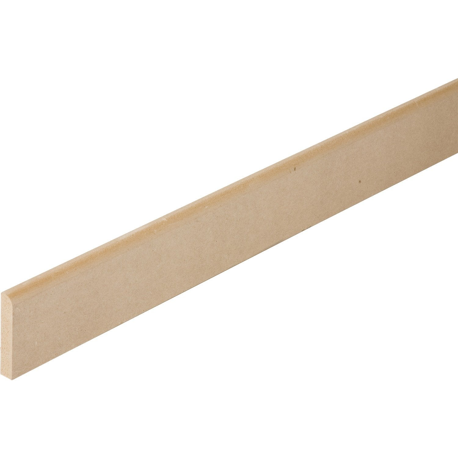 Plinthe m dium mdf r versible 12 x 70 mm l m for Plinthe en medium a peindre