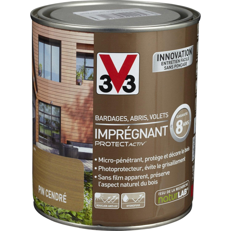 impr gnant protecteur bois protect activ v33 blanc 1 l leroy merlin. Black Bedroom Furniture Sets. Home Design Ideas