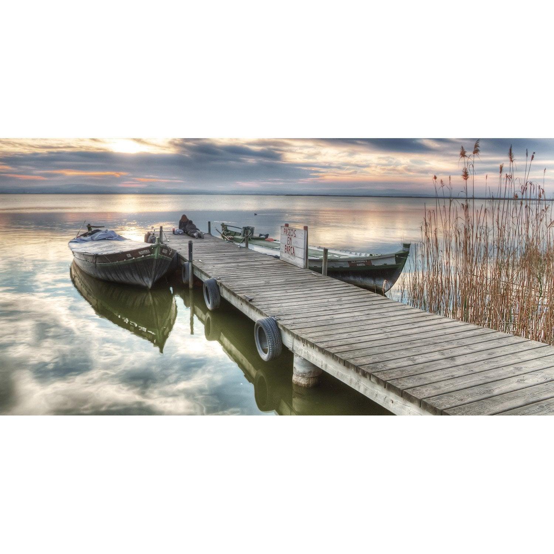 Toile led ponton et barques x cm leroy merlin - Tableau magnetique leroy merlin ...