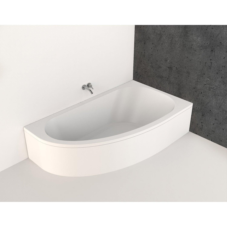 baignoire asym trique gauche cm blanc nerea. Black Bedroom Furniture Sets. Home Design Ideas