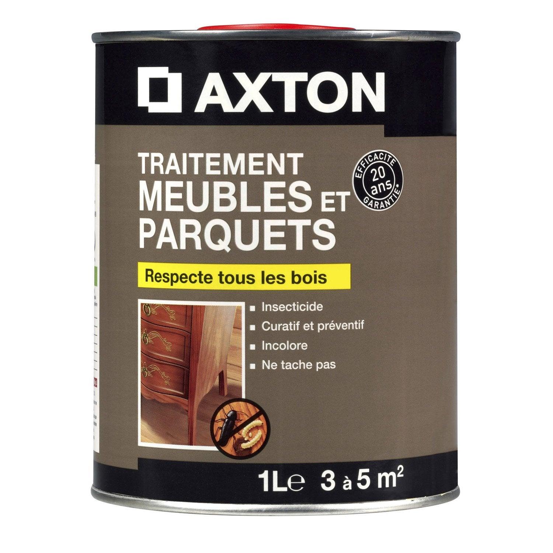 Traitement du bois meuble axton 20 ans 1 l leroy merlin for Traitement meuble bois