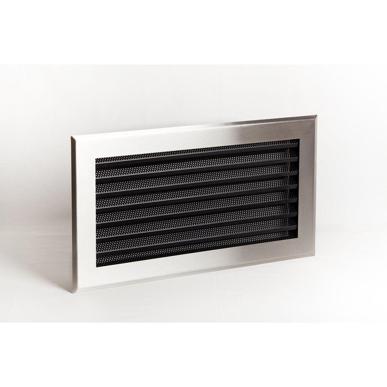 Grille de ventilation inox et acier equation lamelles inox for Porte avec grille de ventilation