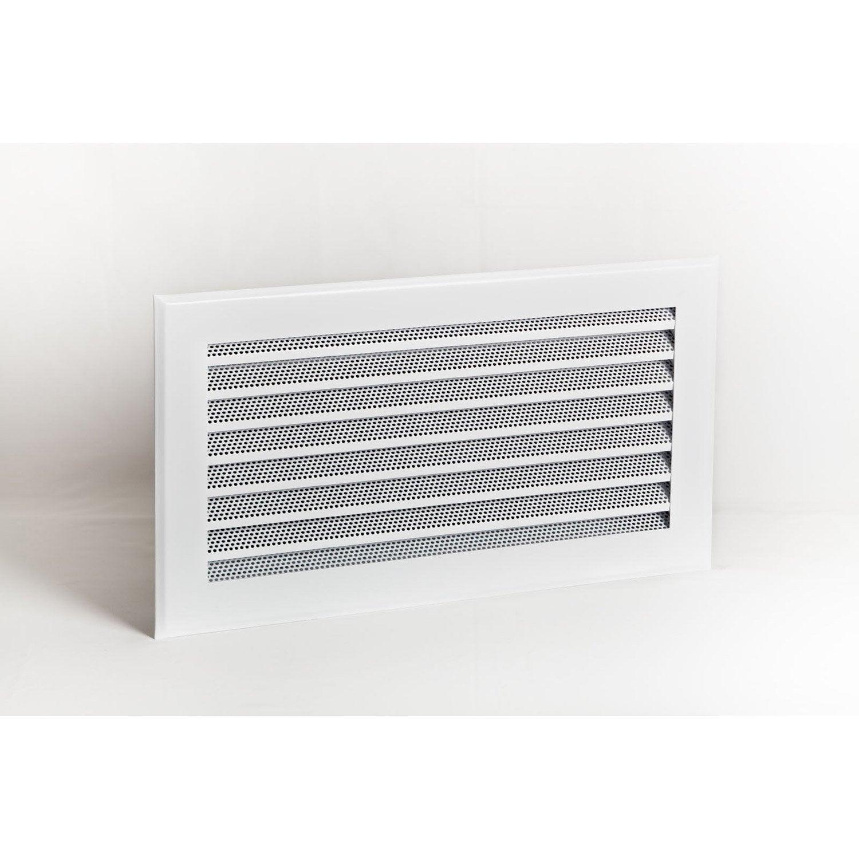 grille de ventilation acier laqu poxy blanc equation x cm leroy merlin. Black Bedroom Furniture Sets. Home Design Ideas