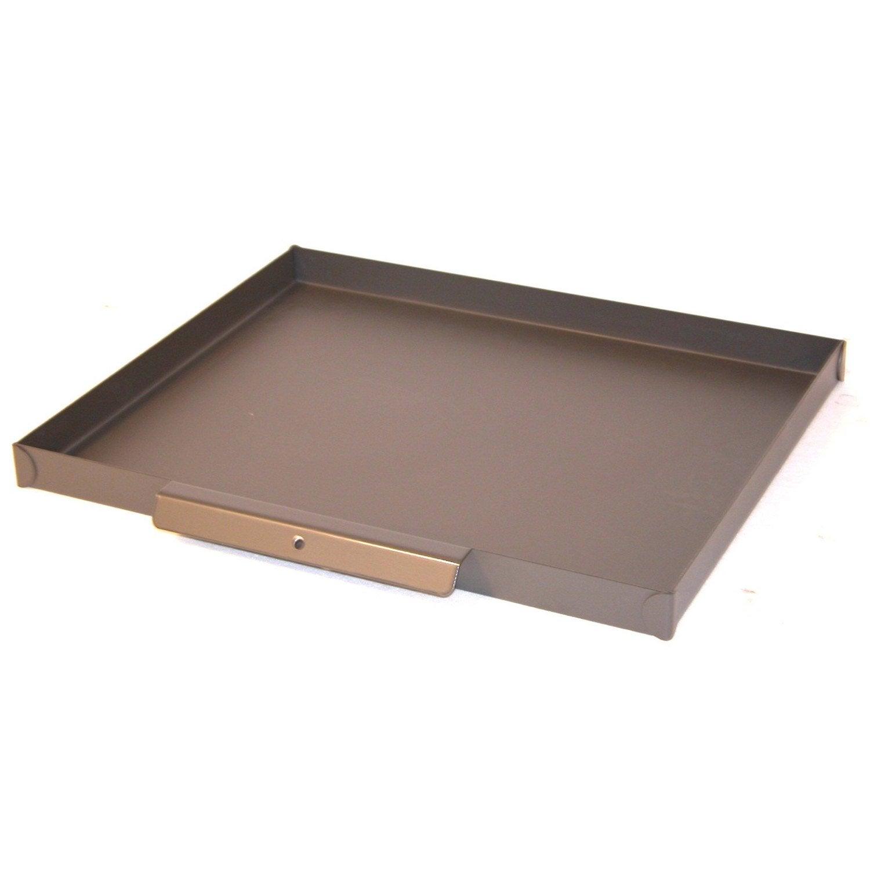 bac cendres acier lemarquier x h 3 5 cm leroy merlin. Black Bedroom Furniture Sets. Home Design Ideas