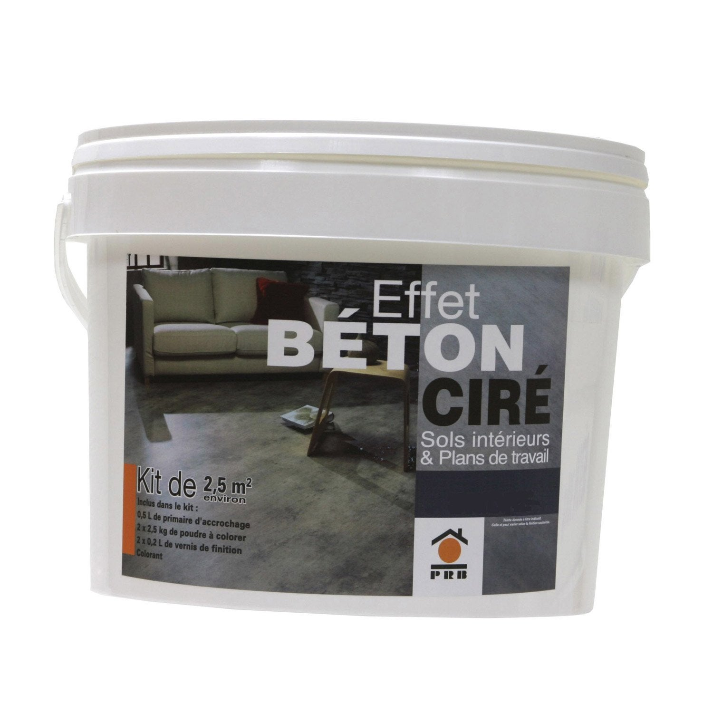 B ton effet cir gris smoke prb leroy merlin for Beton cire exterieur terrasse leroy merlin