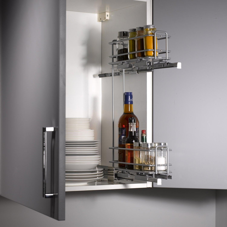 Armoire cuisine coulissante armoire rangement coulissante for Meuble haut salle de bain porte coulissante