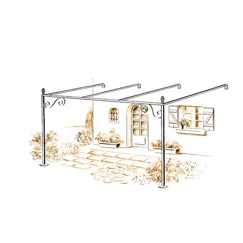 pergola en fer pr peint ibiza haut 230cm leroy merlin. Black Bedroom Furniture Sets. Home Design Ideas
