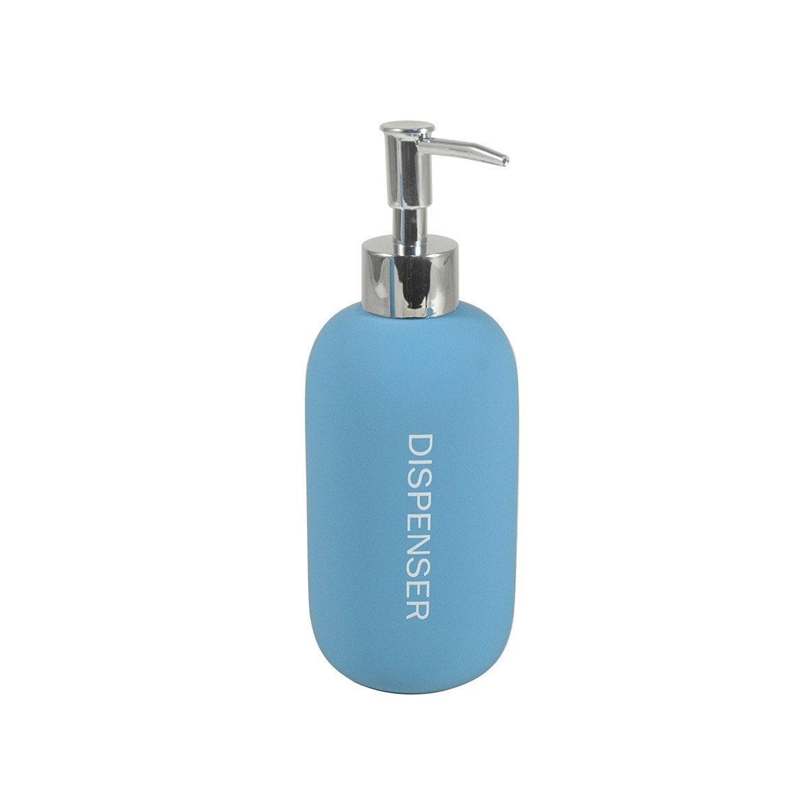 distributeur de savon bubble gum bleu atoll 4 leroy merlin. Black Bedroom Furniture Sets. Home Design Ideas