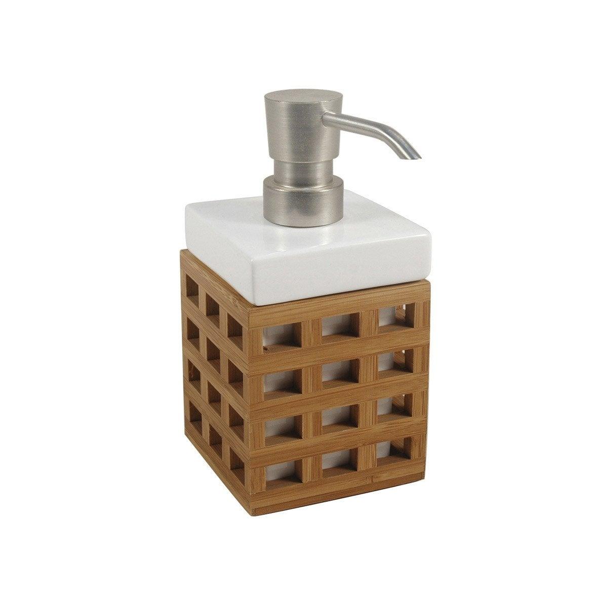distributeur de savon fudji naturel leroy merlin. Black Bedroom Furniture Sets. Home Design Ideas
