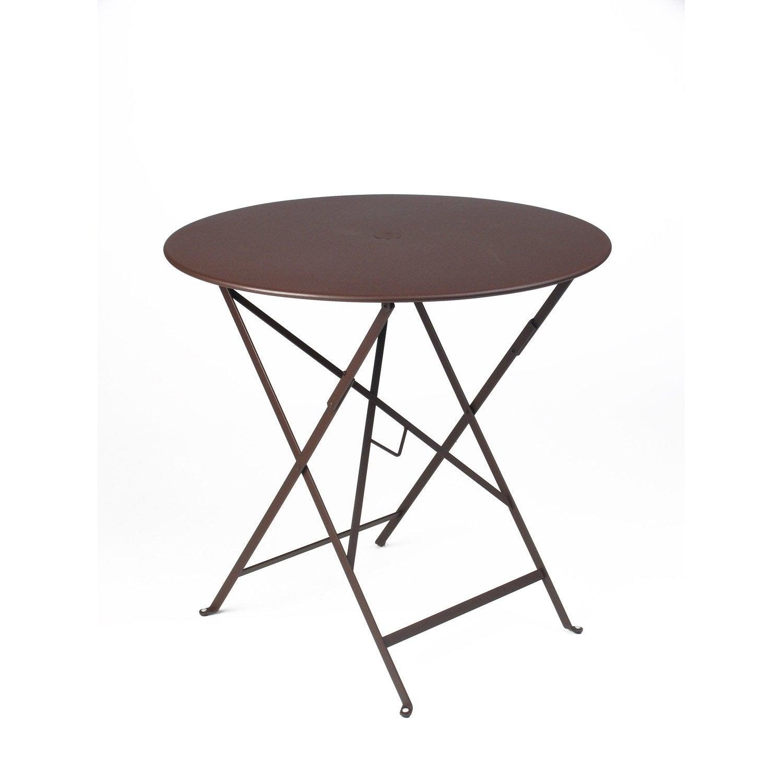 table de jardin fermob bistro ronde rouille leroy merlin. Black Bedroom Furniture Sets. Home Design Ideas