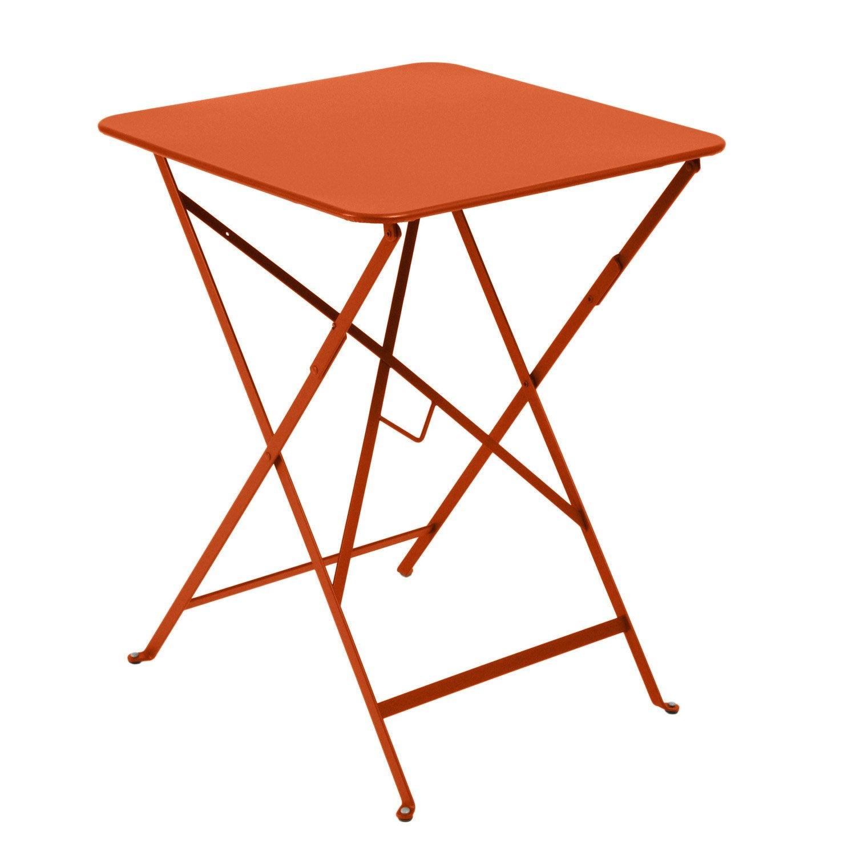 table de jardin fermob bistro carr e paprika 2 personnes leroy merlin. Black Bedroom Furniture Sets. Home Design Ideas