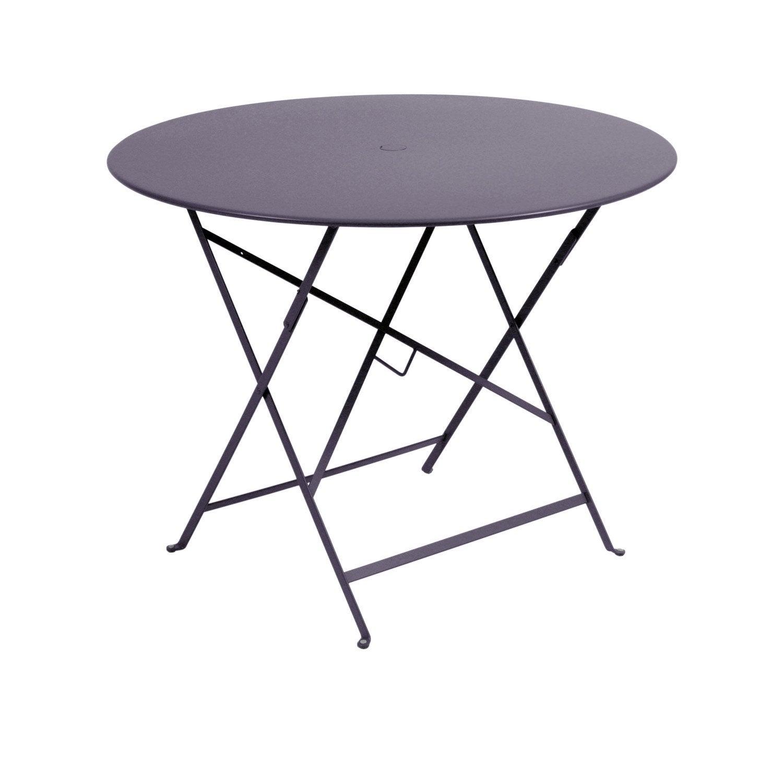Table de jardin fermob bistro ronde prune 4 personnes - Table ronde 4 personnes ...