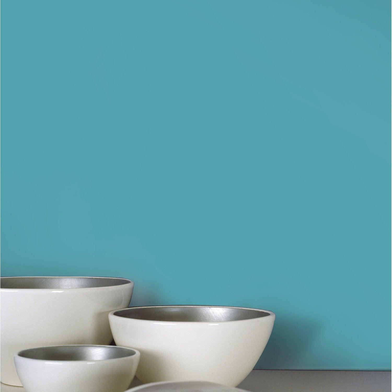 Papier peint intiss lisse mat bleu leroy merlin for Peinture tout support