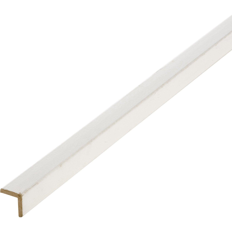 Baguette d 39 angle m dium mdf arrondie blanc 28 x 28 mm for Baguette angle enduit exterieur