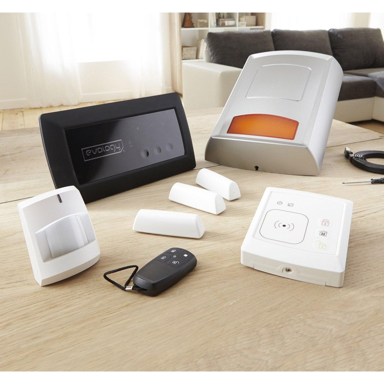 alarme maison sans fil zen s rie limit e evology leroy merlin. Black Bedroom Furniture Sets. Home Design Ideas