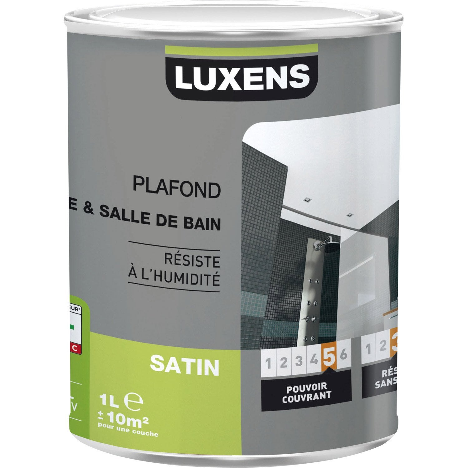 peinture blanche plafond plafond cuisine et bains luxens satin 1 l leroy merlin. Black Bedroom Furniture Sets. Home Design Ideas