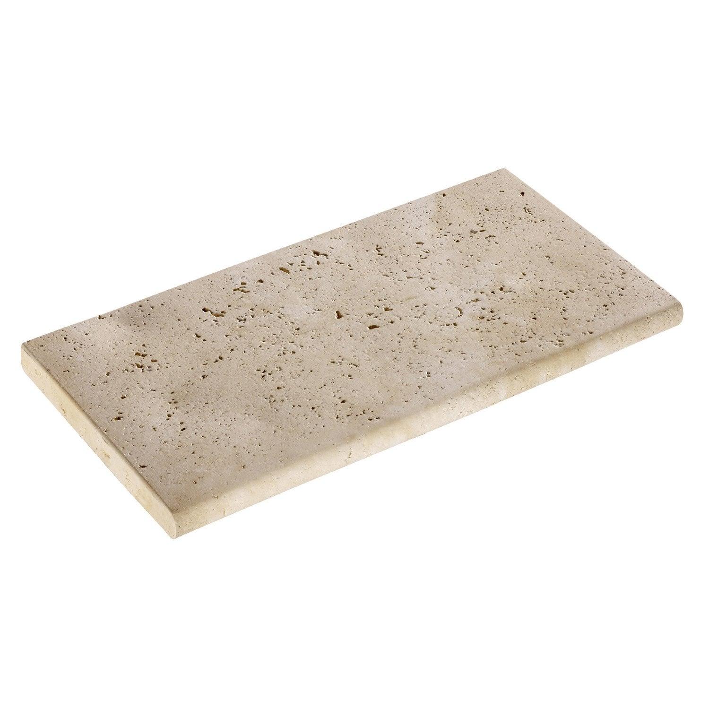 margelle kairouan en pierre reconstitu e beige leroy merlin. Black Bedroom Furniture Sets. Home Design Ideas