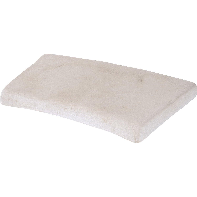 margelle castel en pierre reconstitu e ivoire leroy merlin. Black Bedroom Furniture Sets. Home Design Ideas