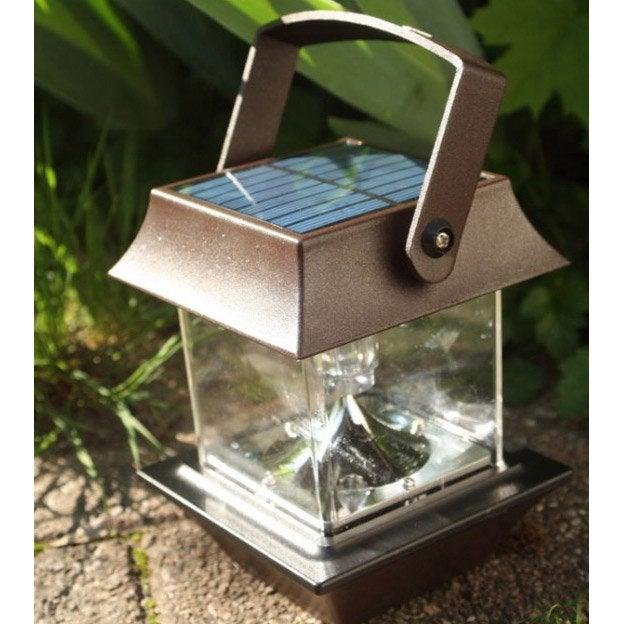 lanterne solaire pagode 30 lm rouille watt home leroy merlin. Black Bedroom Furniture Sets. Home Design Ideas