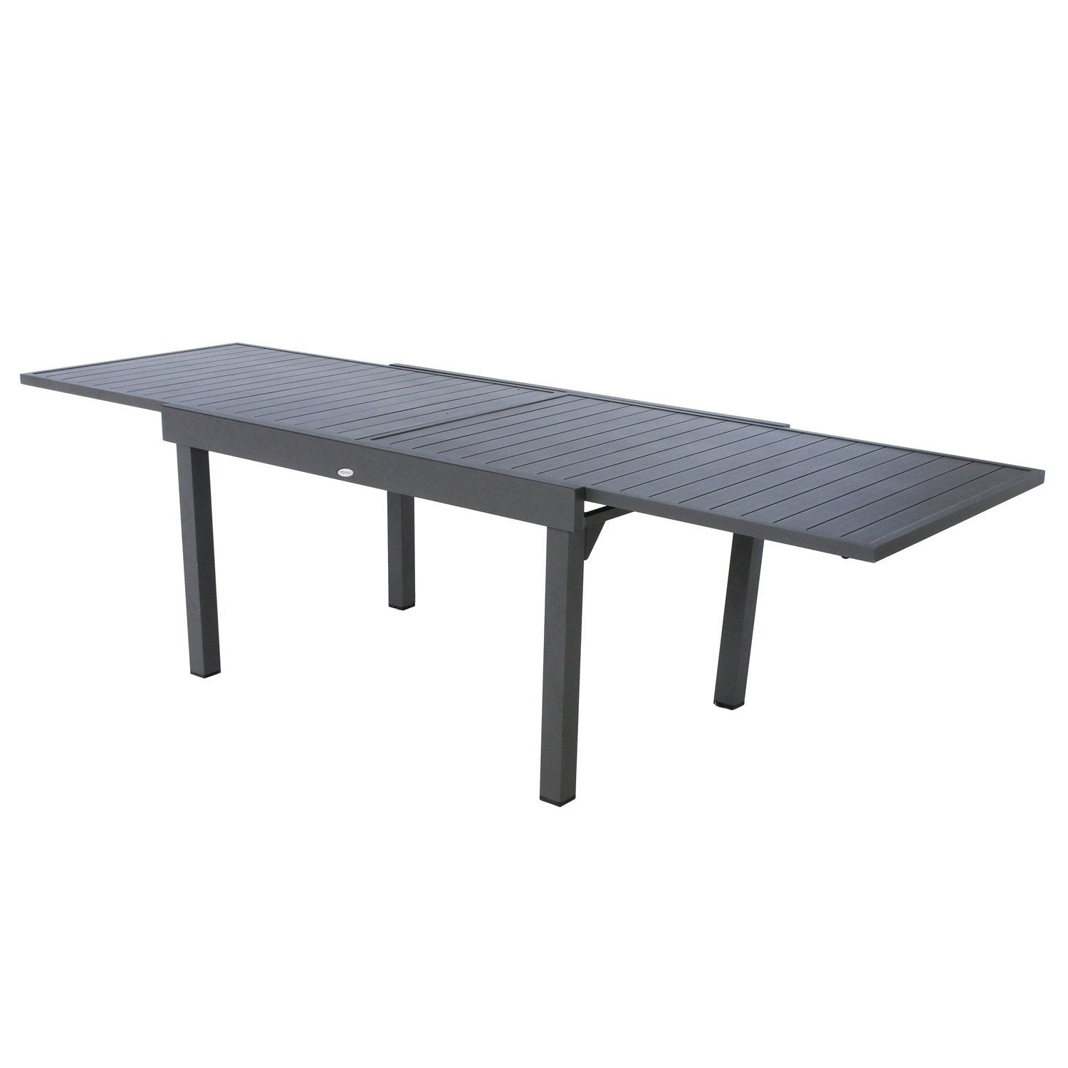 table de jardin hesperide piazza rectangulaire gris 10. Black Bedroom Furniture Sets. Home Design Ideas