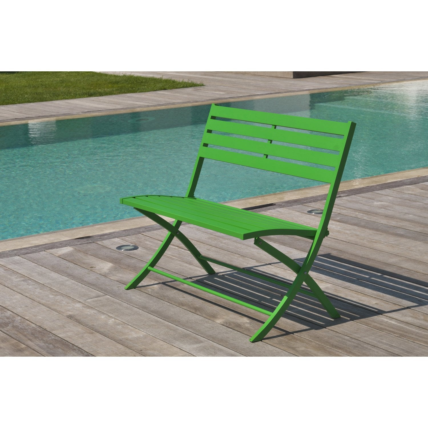 Banc de jardin 2 places maison design for Banc de jardin leroy merlin