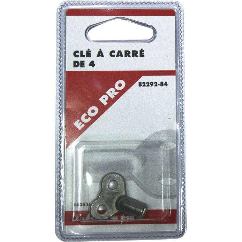 Cl de purgeur carr de 4mm en laiton nickel ecopro for Termosifoni leroy merlin