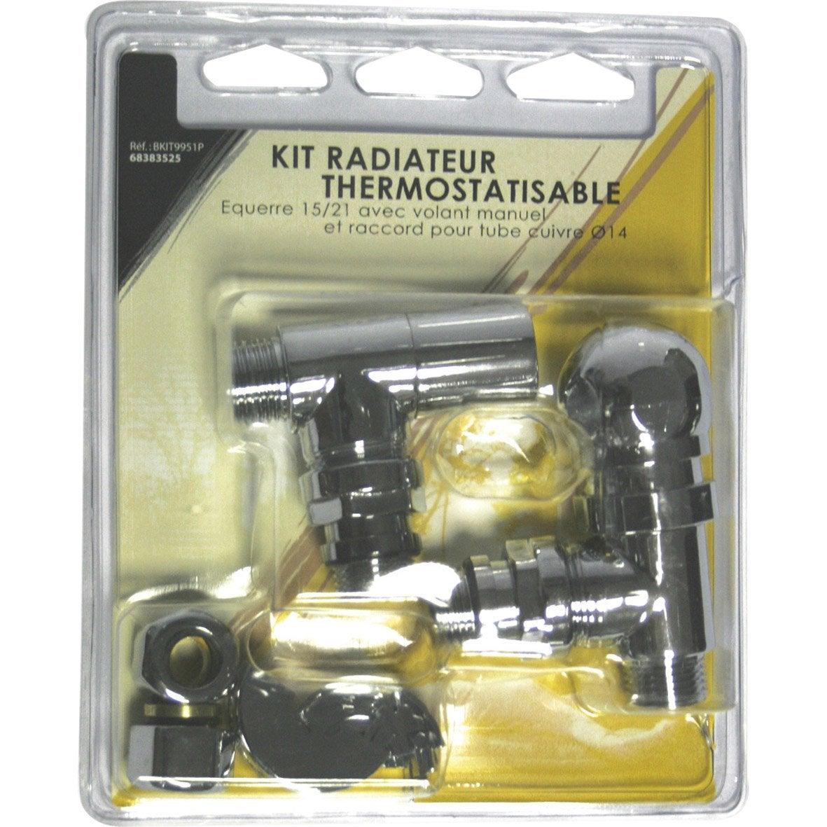 kit de robinet thermostatique 15 22 m le femelle en. Black Bedroom Furniture Sets. Home Design Ideas