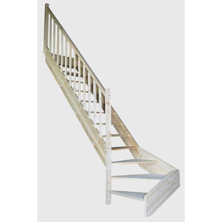 escalier quart tournant en bois kiev sans contremarche