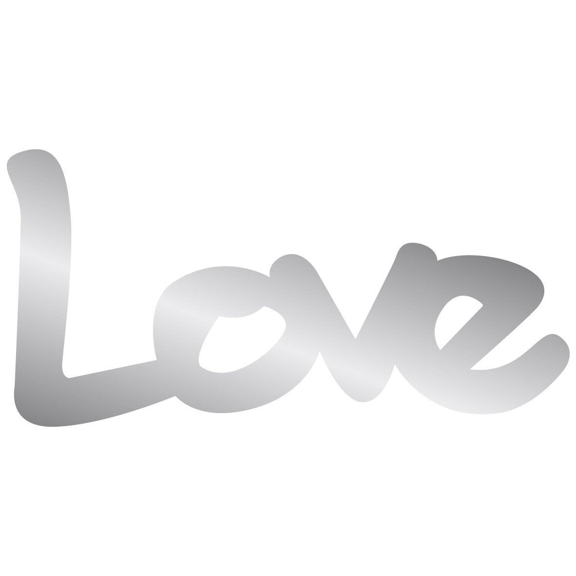miroir en plexiglass mot love 10 cm x 20 cm leroy merlin. Black Bedroom Furniture Sets. Home Design Ideas