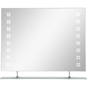 miroir lumineux r tro clair led nova x cm leroy merlin. Black Bedroom Furniture Sets. Home Design Ideas