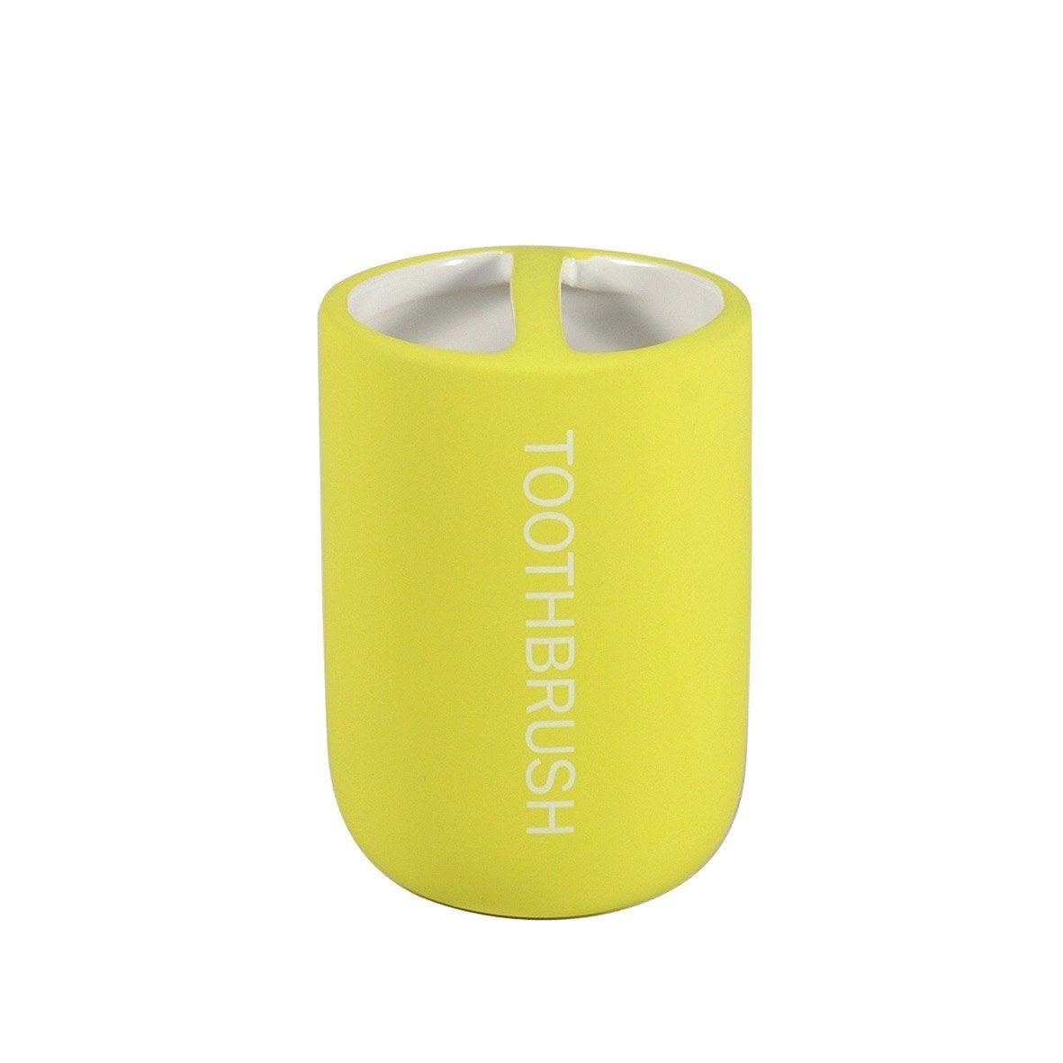 Porte brosse dents bubble gum jaune anis 5 leroy merlin - Brosse metallique leroy merlin ...