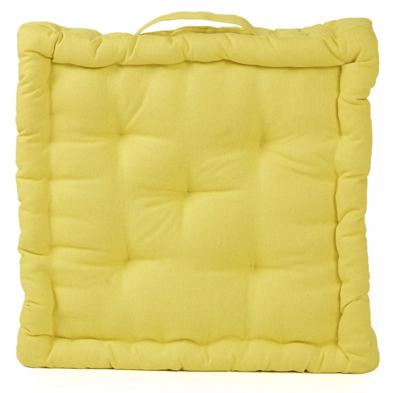Coussin de sol cl a inspire jaune anis n 5 x x cm leroy me - Leroy merlin coussin ...