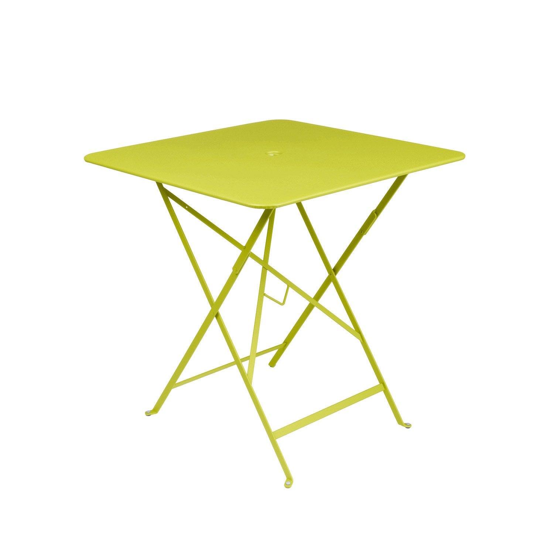 table de jardin fermob bistro carr e verveine leroy merlin. Black Bedroom Furniture Sets. Home Design Ideas