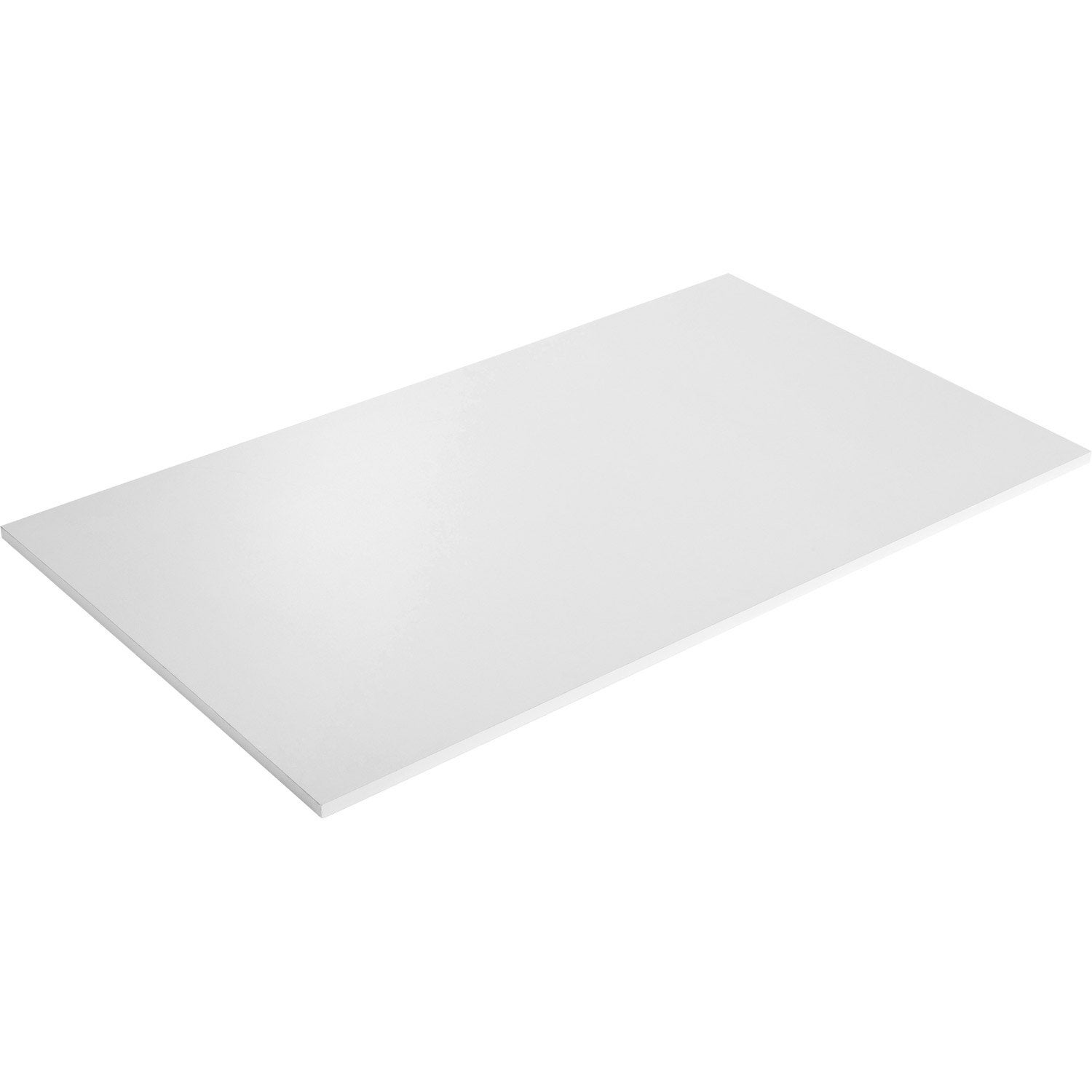Plateau de table agglom r blanc x cm x mm leroy merlin for Plateau en verre pour table