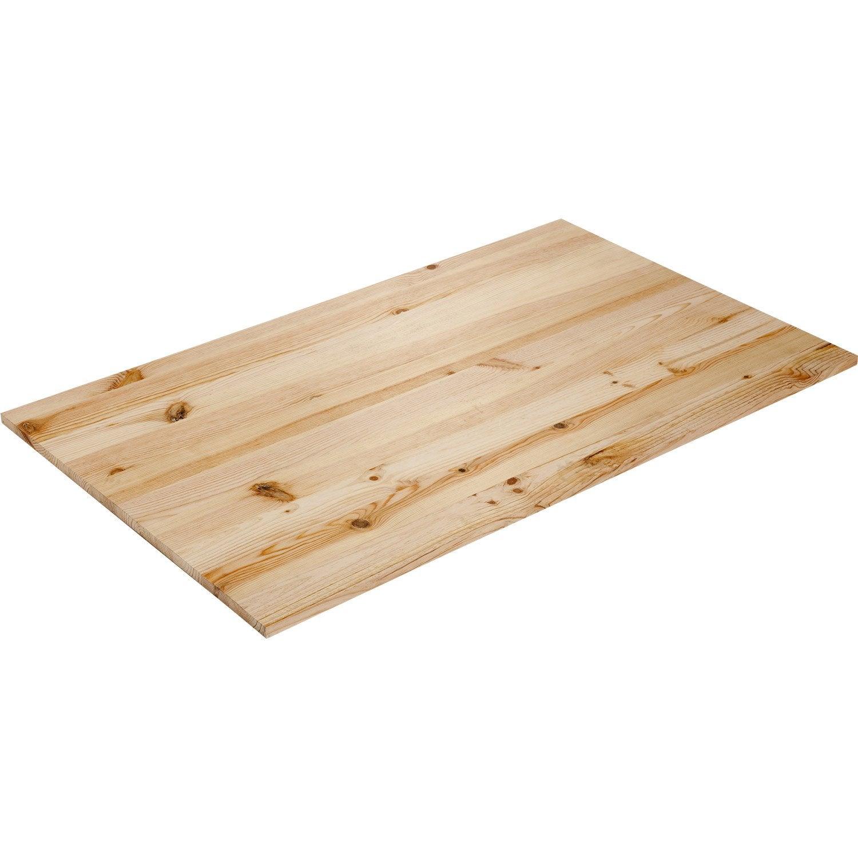 Plateau de table pin x cm x mm leroy for Plateau de table rond 120 cm