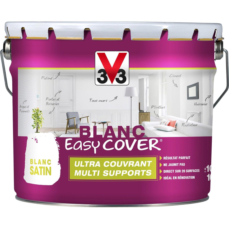 Peinture blanche mur plafond et boiserie easy cover v33 - Peinture plafond cuisine mat ou satin ...