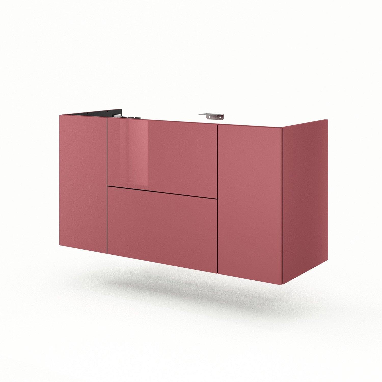 Meuble sous vasque x x cm rouge neo line for Meuble sous vasque 120