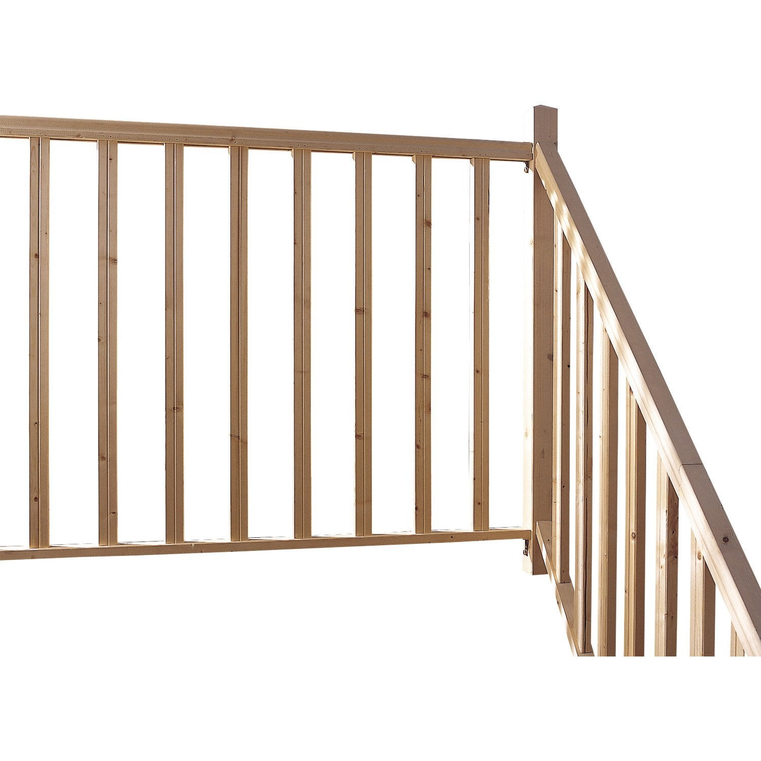 Kit city balustrade sapin 2m leroy merlin for Prix pose escalier leroy merlin