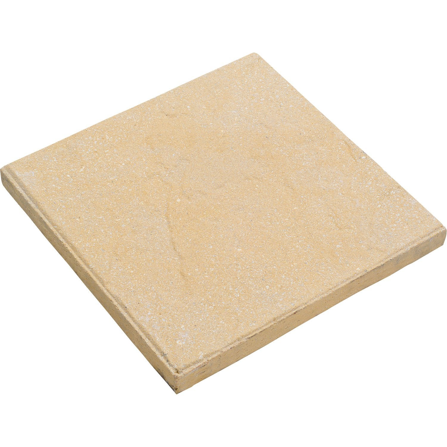 Dalle b ton vercors beige x cm x mm for Plot beton leroy merlin