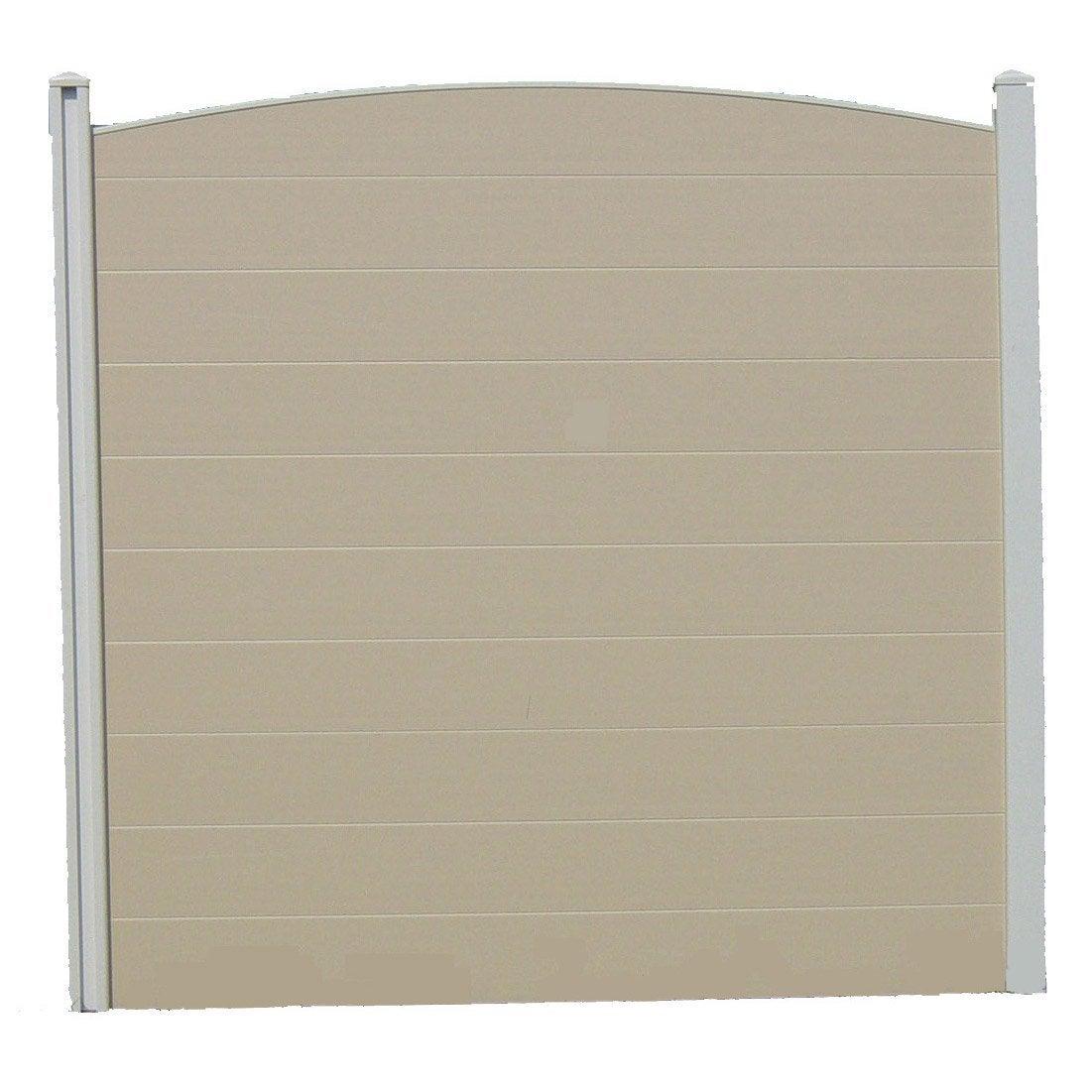 Panneau pvc 180x180 cm beige leroy merlin for Panneau pvc exterieur