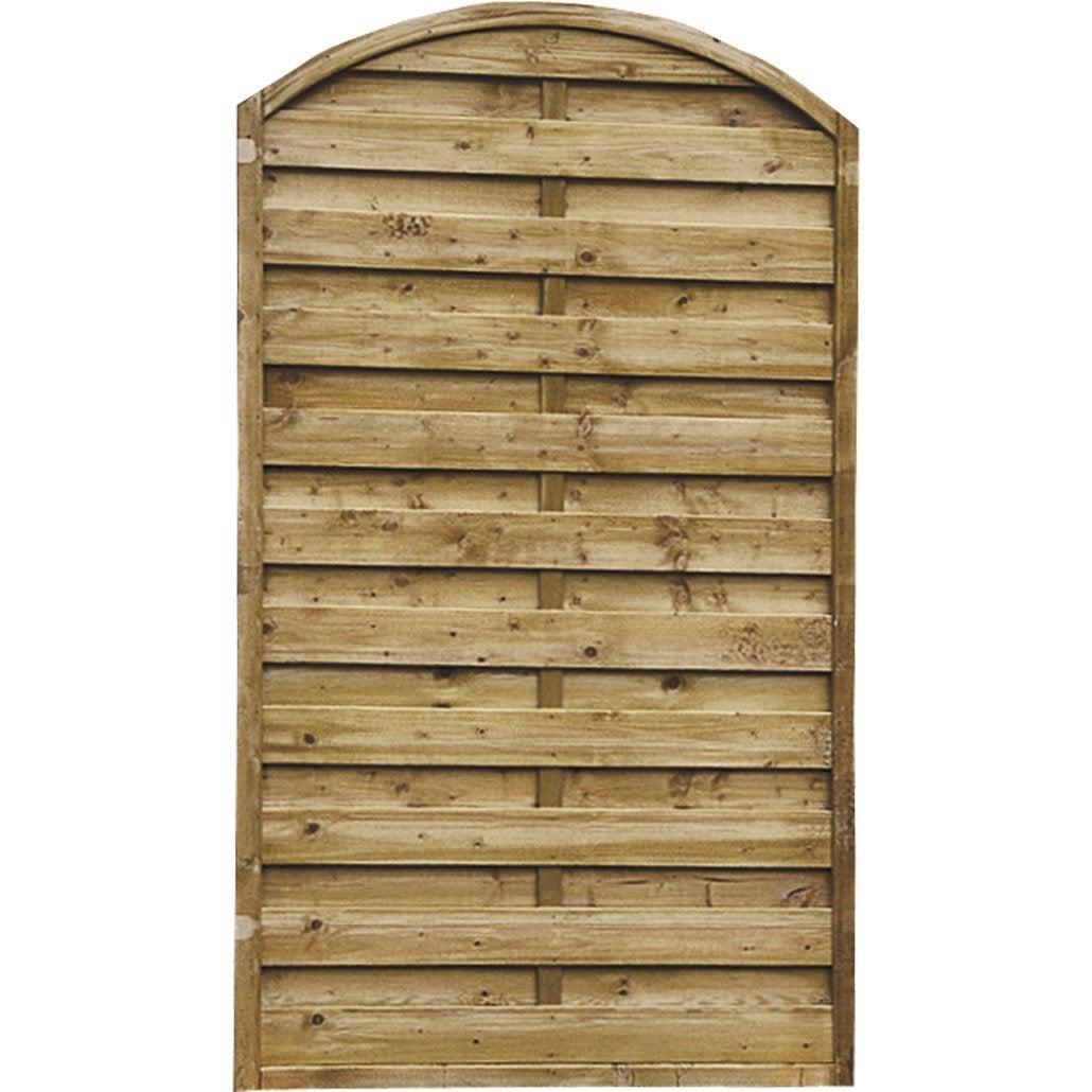 Panneau en bois arc occultant l 90 x h 180 cm naturel leroy merlin - Panneau de bois leroy merlin ...