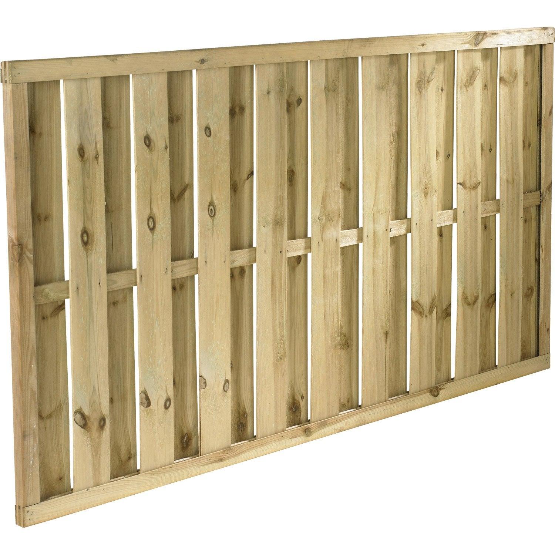 Panneau bois occultant lucas cm x cm naturel for Lame de bois exterieur