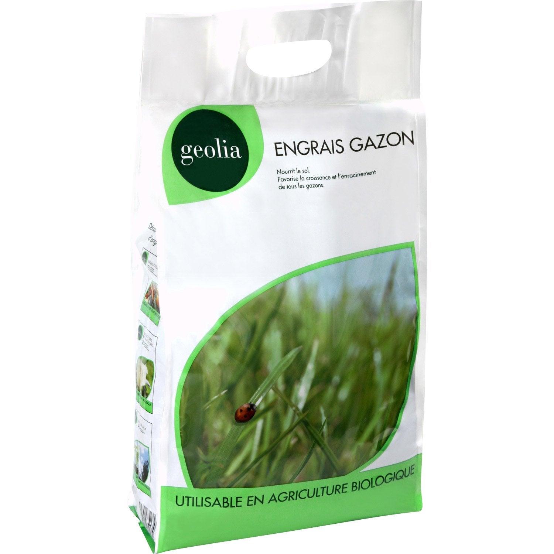 engrais naturel gazon geolia 5kg 100m2 leroy merlin. Black Bedroom Furniture Sets. Home Design Ideas